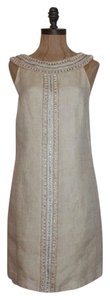 Tibi Beaded Linen Dress
