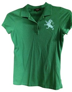 Express T Shirt Green With blue Logo