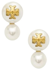 Tory Burch Tory burch Evie Double Pearl Earrings