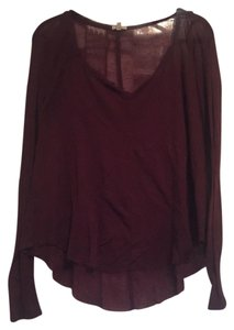 Urban Outfitters T Shirt Burgundy
