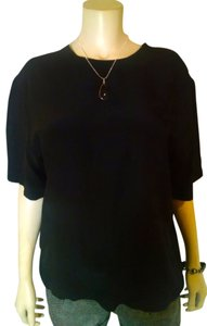 Casual Corner Size Medium Silk Summersale Top black