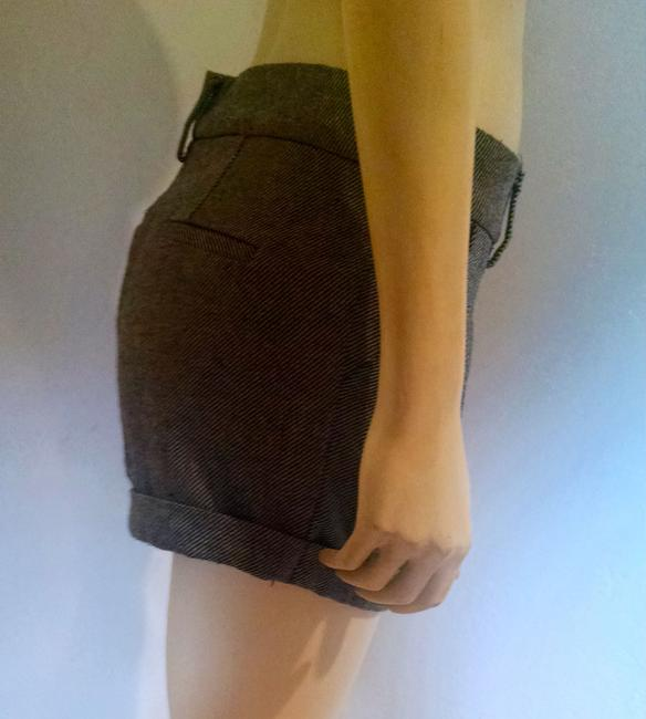 Forever 21 Size Small Cuffed P1060 Dress Shorts Black, ivory