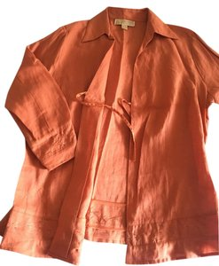 Michael Kors Shirt Linen Helmut Lang Button Down Shirt Orange