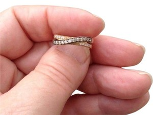 LeVian Chocolate & vanilla Pave diamonds in 14K Yellow Gold Ring