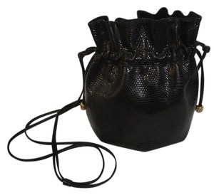LANA MARKS Vintage Lizard Crystal Cross Body Bag