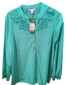 Lilly Pulitzer Top Lagoon Green