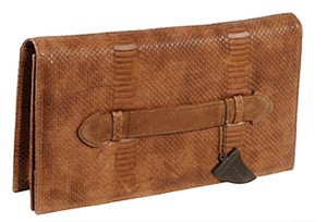House of Harlow 1960 Tan Clutch