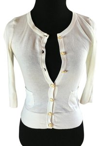 Juicy Couture Sweater Button Up Button Down Shirt Cream