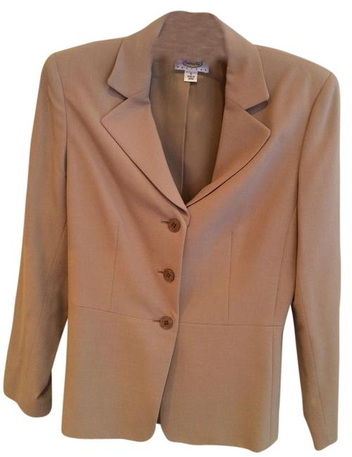 Item - Taupe (Stretch Material) Pant Suit Size Petite 6 (S)