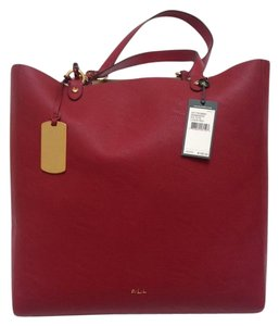 Ralph Lauren Shoulder Tote in Red