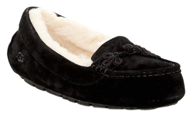 Item - Black Suki Wool Lined Moccassin Loafer Slipper Flats Size US 8 Regular (M, B)