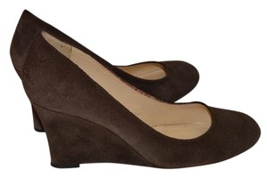 Kate Spade Brown Suede Leather chocolate Wedges