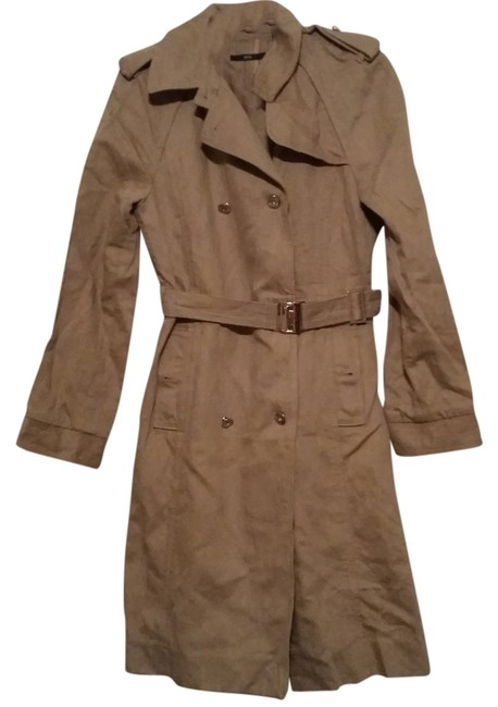 hugo boss trench size small trench coat 58 off retail. Black Bedroom Furniture Sets. Home Design Ideas