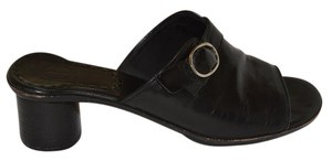 Cole Haan Slip On Leather Black Sandals