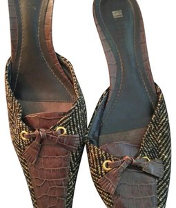 Carole Little brown Mules