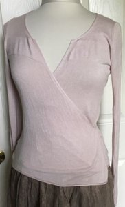 140e0f497c Kookaï Kookai Light Blush Pink Knit Wrap Tie Waist Cardigan Top 2
