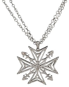 Julia Post Julia Post Diamond Maltese Cross Necklace