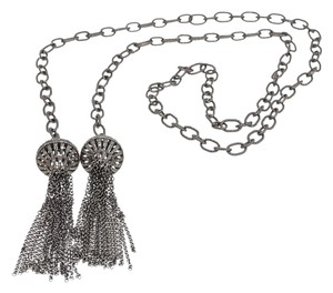 Julia Post Julia Post Diamond Chain Tassel Necklace