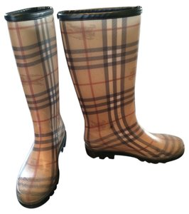 Burberry Water Proof Rubber Grips Sole Pull-on Snow Proof Rain Proof Classic Burberry check Boots
