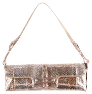 Jimmy Choo Snakeskin Evening Chic Shiny Shoulder Bag