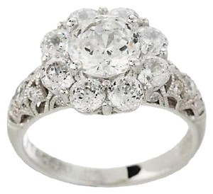 Tacori IV Diamonique Tacori IV Diamonique Epiphany Flower Halo Bloom Cut Ring - Size 10