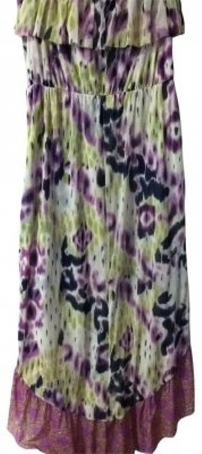 purple, green, blk, wht Maxi Dress by Anthropologie