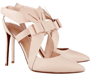 Nicholas Kirkwood Bow Nude Stiletto Blush Pumps