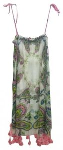 Taka short dress white with multicolor paisley patterns on Tradesy