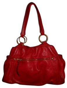 Liz Claiborne Leather Tote in red