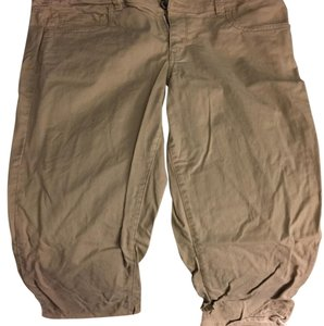 American Eagle Outfitters Capris Khaki Brown