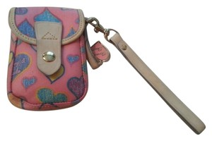 Dooney & Bourke Hearts Camera Case Cell Phone Case Wristlet in Pink