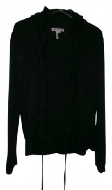 Preload https://item4.tradesy.com/images/bcbgeneration-black-ruffled-trim-sweater-cardigan-size-8-m-16108-0-0.jpg?width=400&height=650
