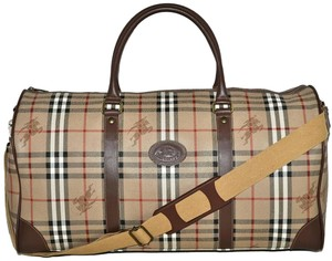 Burberry Carry On Luggage Suitcase Keepall Beige Travel Bag