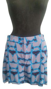 Derek Lam Dress Shorts Gray Blue