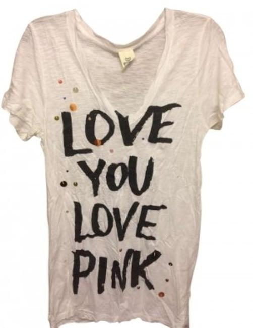 Preload https://item3.tradesy.com/images/pink-white-black-sequins-gold-tee-shirt-size-12-l-161087-0-0.jpg?width=400&height=650