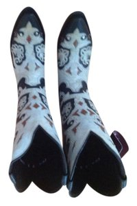 Lucchese Stud Scarlette Blk W/Nat Inlay Boots