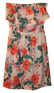 Charlotte Russe short dress Multicolored Bow Accent Keyhole Hawaiian on Tradesy