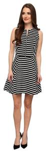 Michael Kors short dress Navy Blue and White Stripes w/ Gold Accent on Tradesy