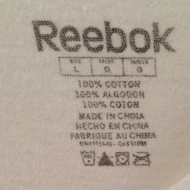 Reebok T Shirt White With Pink