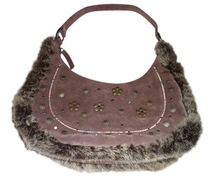 BCBGeneration Leather Suede Shoulder Bag