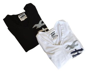 Hollister T Shirt Black and White