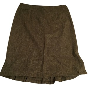 Petite Sophisticate Skirt Green tweed