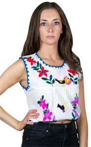 Urban Renewal Vintage Floral Retro Boho Embroidered Tunic