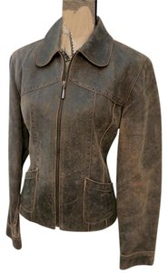 Cripple Creek Brown Leather Jacket