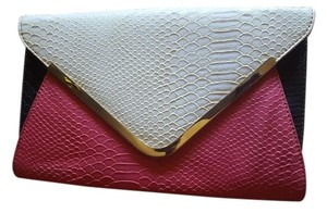 Multicolor Pink/ivory/black Clutch