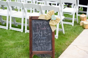 & Other Stories Brown Double-sided Rustic Wooden Chalkboard Easel Ceremony Decoration