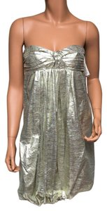 Stella McCartney Nwt Metallic Silk Dress