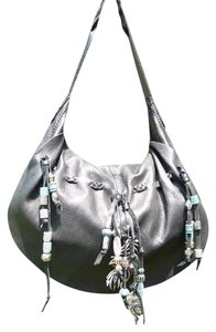 Lucky Brand Hollywood And Vine Beaded Leather Hobo Bag