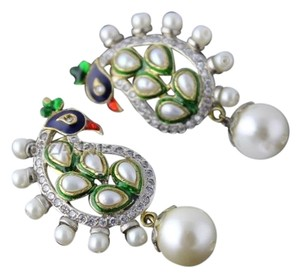Other Peacock Earrings with Pearl Drops