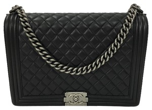 64c562c41a59 Chanel Boy Le Large Quilted Flapbag Black Leather Shoulder Bag - Tradesy